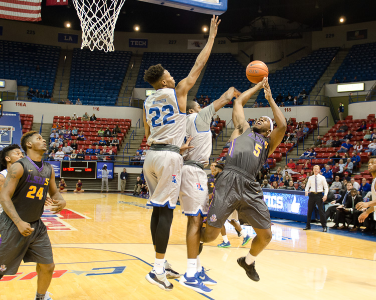 8th LSUS Men's Basketball vs LA Tech Photo
