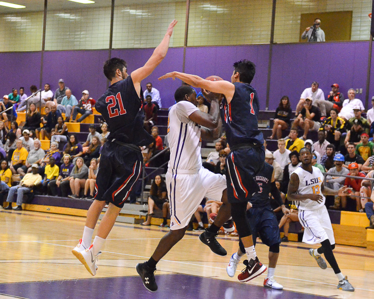 2nd LSUS Men's Basketball vs St. Gregory Photo