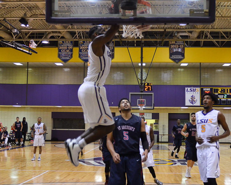 17th LSUS Men's Basketball vs St. Gregory Photo