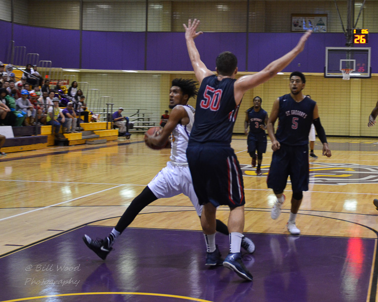 27th LSUS Men's Basketball vs St. Gregory Photo