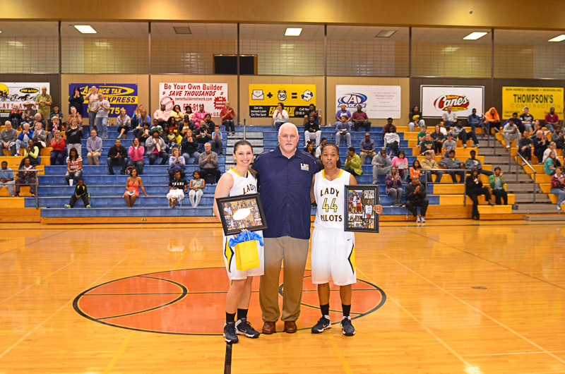 7th Lady Pilots and Pilots Basketball Senior Night Photo