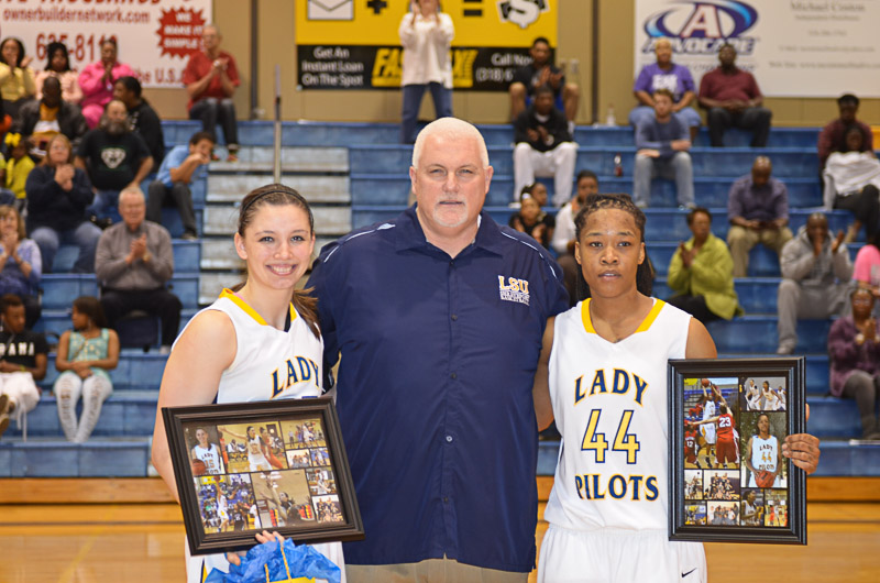5th Lady Pilots and Pilots Basketball Senior Night Photo
