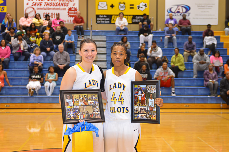 8th Lady Pilots and Pilots Basketball Senior Night Photo