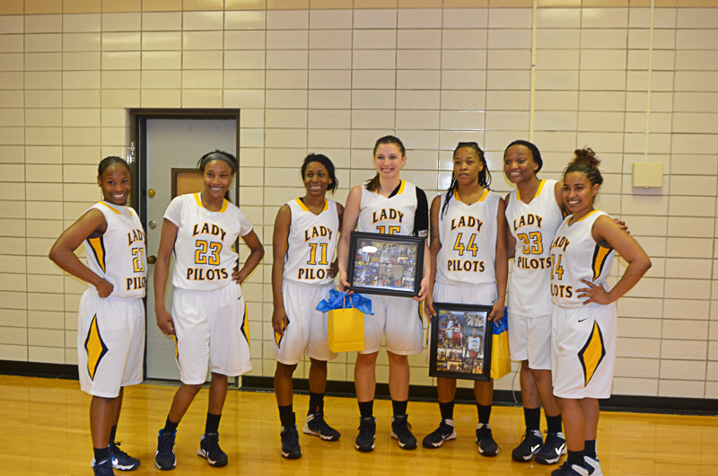 10th Lady Pilots and Pilots Basketball Senior Night Photo
