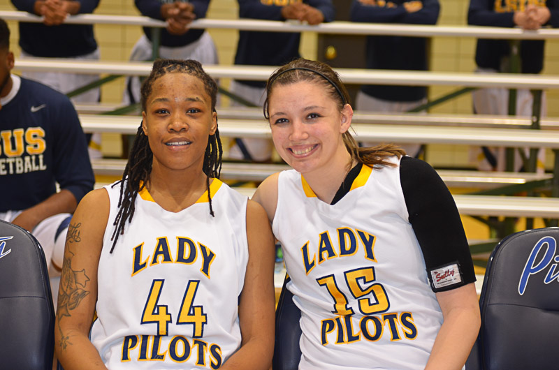 34th Lady Pilots and Pilots Basketball Senior Night Photo