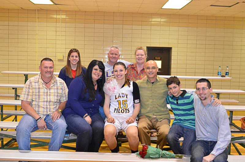 36th Lady Pilots and Pilots Basketball Senior Night Photo