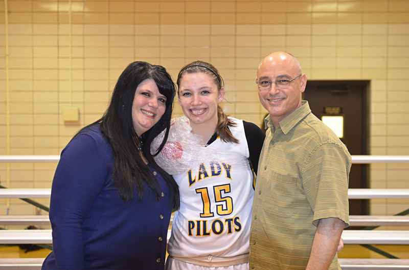 39th Lady Pilots and Pilots Basketball Senior Night Photo