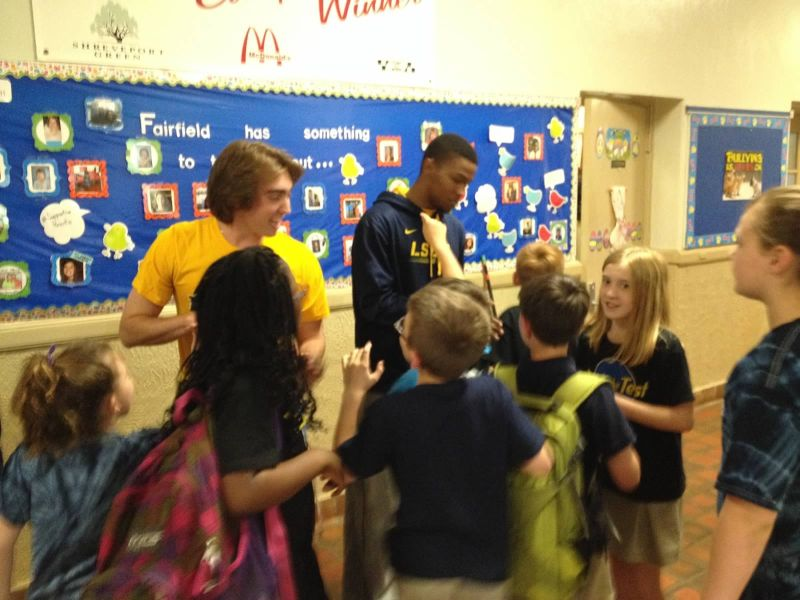 13th LSUS ATHLETES VISITS FAIRFIELD ELEMENTARY Photo