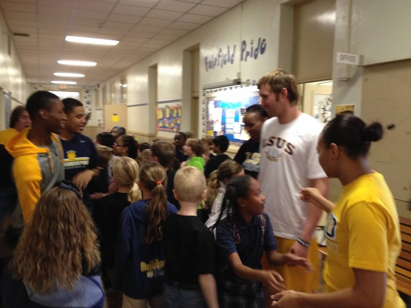 24th LSUS ATHLETES VISITS FAIRFIELD ELEMENTARY Photo