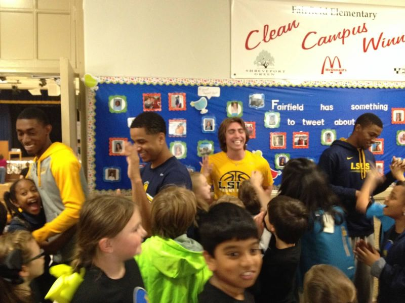 27th LSUS ATHLETES VISITS FAIRFIELD ELEMENTARY Photo