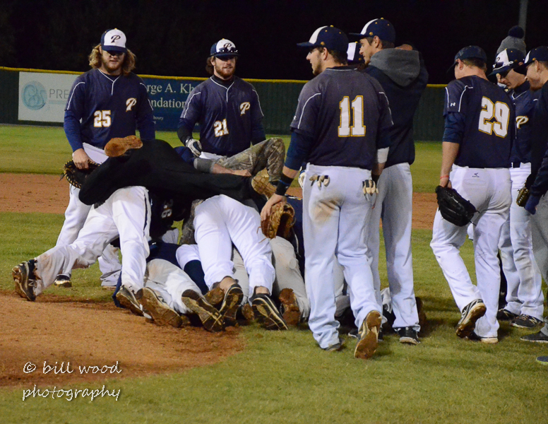 Team Navy displays how not to dog pile!